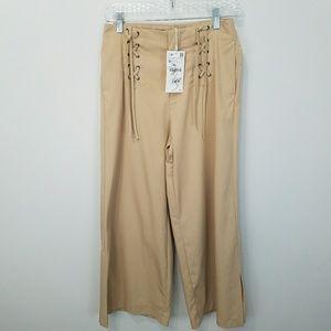 Zara wide leg crop pants NWT